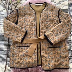 Other Stories▪️Safari Animal Quilted Jacket. Sz 12